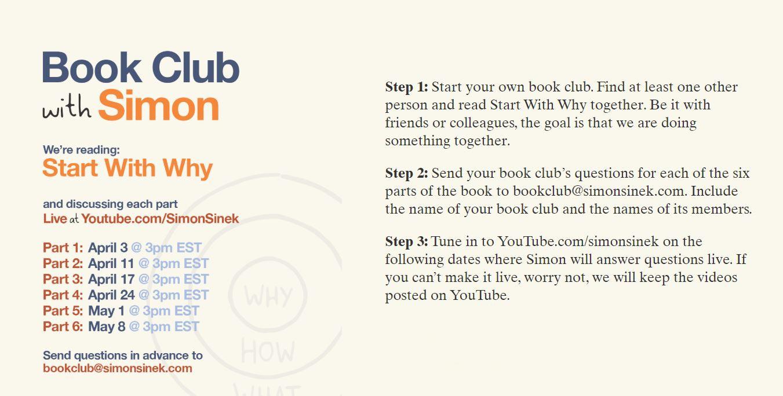 Simon Seneks Book Club start with why